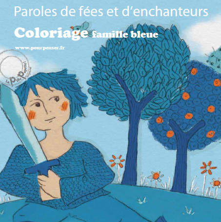 Coloriage Fee Bleue.Coloriages Gratuits Bleu Paroles De Fee Coloriage Gratuit