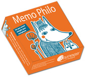 Jeu orange Mémo Philo illustré par Aline de Pétigny