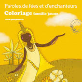 Coloriages gratuits jaune - Paroles de fée illustré par Aline de pétigny