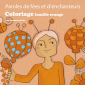 Coloriages gratuits orange - Paroles de fée illustré par Aline de pétigny